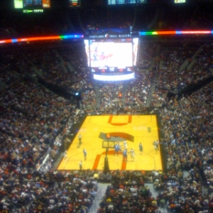 In the nosebleeds watching the Blazers...