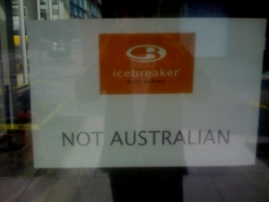What is the NZ firm Icebreaker trying to say here?